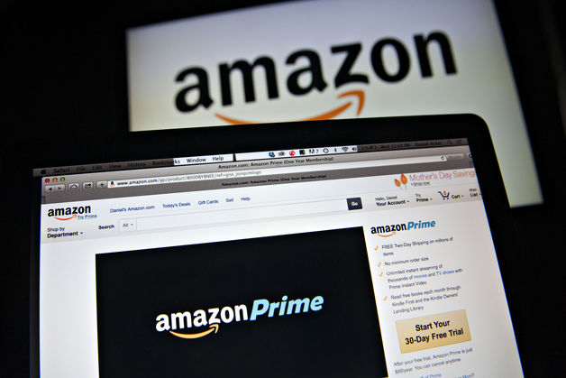 The Amazon.com Inc. Prime logo is displayed on computer screens for a photograph in Tiskilwa, Illinois, U.S. Photographer: Daniel Acker