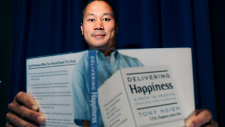 Hsieh, founder and chief executive of Zappos. Photographer: Noah Berger/Bloomberg
