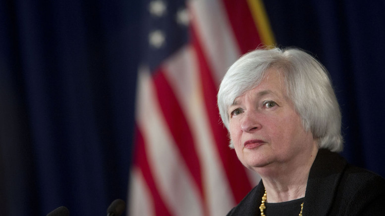 Janet Yellen, chair of the U.S. Federal Reserve. Photographer: Andrew Harrer/Bloomberg