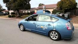 The Google self-driving car maneuvers through the streets of in Washington, D.C. Photographer: Karen Bleier/AFP via Getty Images