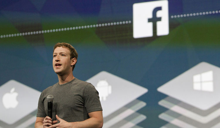 Mark Zuckerberg, chief executive officer of Facebook Inc., speaks during the Facebook F8 Developers Conference in San Francisco, California, on April 30, 2014. Erin Lubin