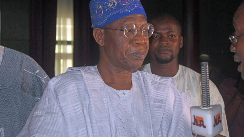 Minister of Information, Lai Mohammed