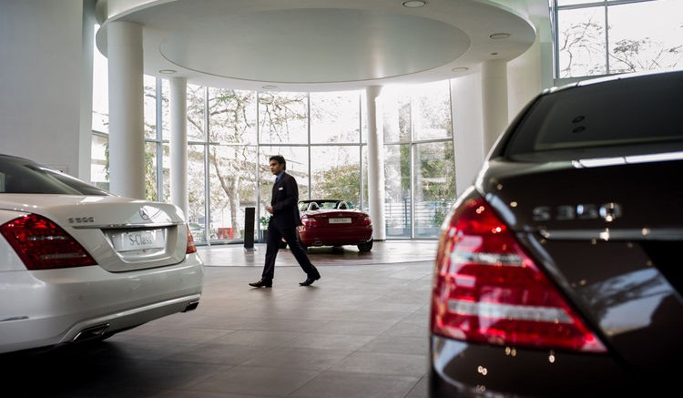 Daimler AG, whose cash and cash equivalents rose by 15 percent last year to 11 billion euros ($15 billion) at the end of December, encapsulated the mood in European boardrooms. Photographer: Sanjit Das