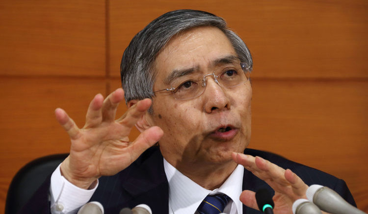 Haruhiko Kuroda, governor of the Bank of Japan (BOJ)
