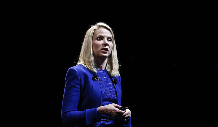 Marissa Mayer, Chief Executive Officer of Yahoo! Inc. Photographer: Simon Dawson/Bloomberg
