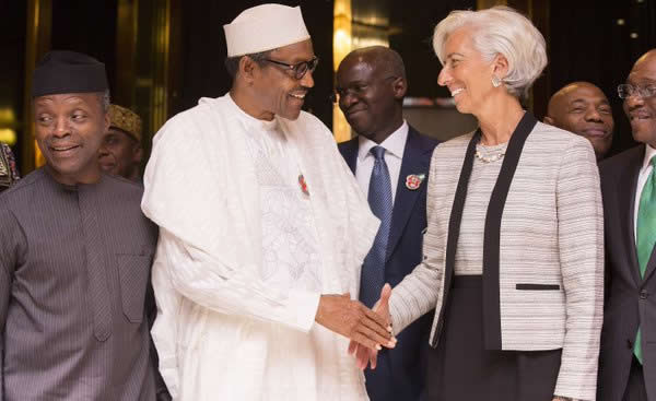 Osinbajo Buhari and Lagarde