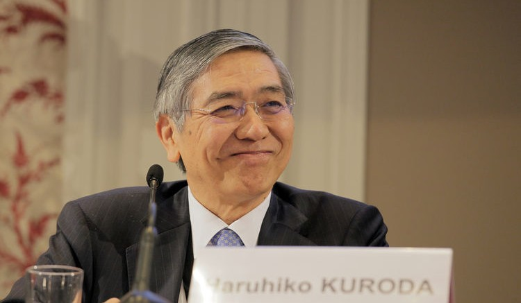 Haruhiko Kuroda, governor of the Bank of Japan. Photographer: Kosuke Okahara