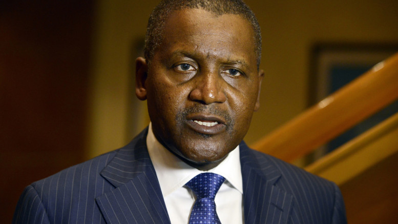 Business magnate man Aliko Dangote, ranked by Forbes Magazine as the richest man in Africa. (Photo credit should read PIUS UTOMI EKPEI/AFP/Getty Images)