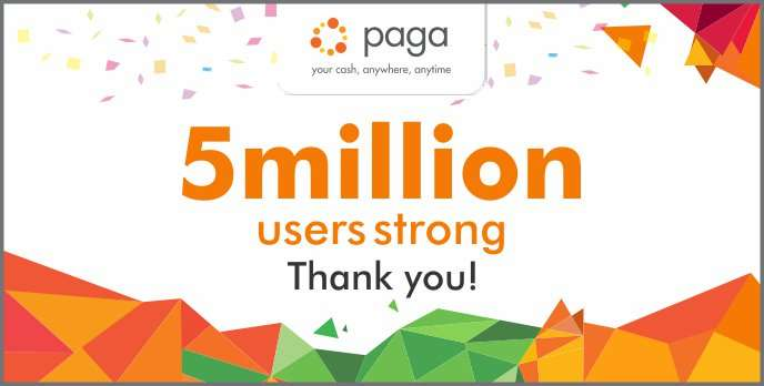Paga hits 5 million users