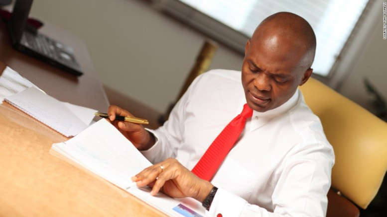 Tony Elumelu. Nigerian business tycoon and philantropist.