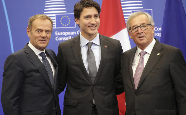 Canada and E.U. Sign Trade Deal, Bucking Resistance to Globalization