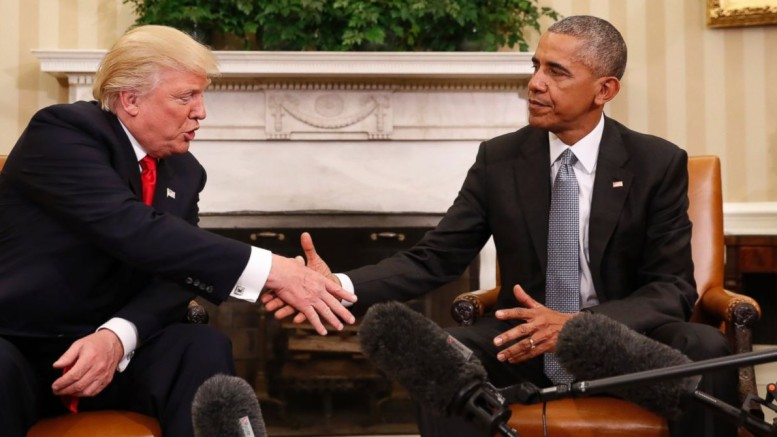 Obama meets president elect, Donald Trump in the White House Oval Office on Thursday.