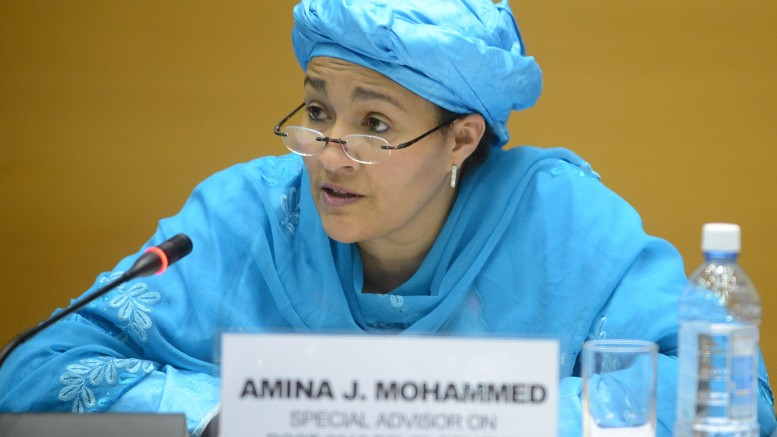 Minister of Environment, Mrs. Amina Mohammed