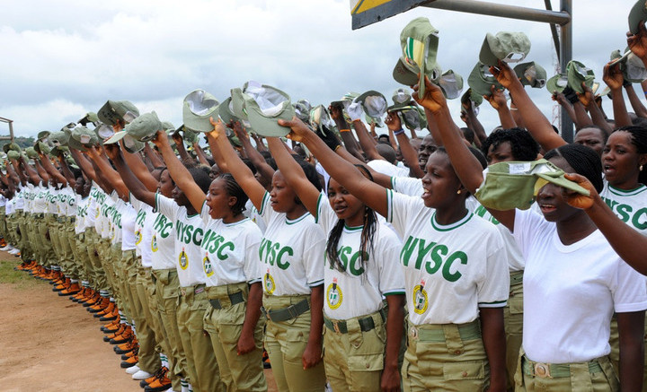 A CROSS SECTION OF NYSC 2012 BATCH 'B' CORPS MEMBERS  DURING THEIR SWEARING-IN IN JOS