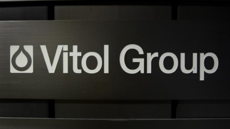 A sign is pictured in front of the Vitol Group trading commodities building in Geneva October 4, 2011.