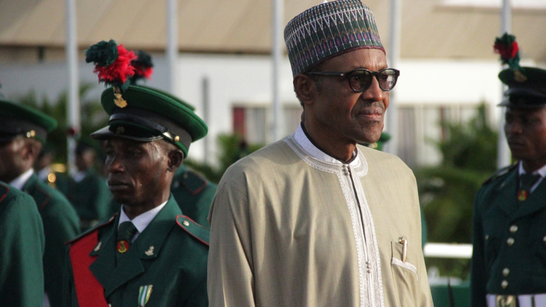 Buhari on arrival from London