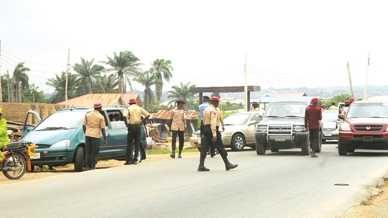 FRSC personnel at work
