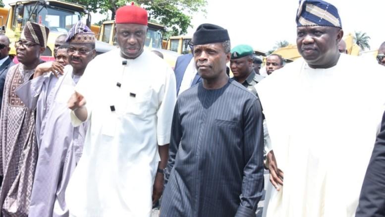 Lagos State Governor, Mr. Akinwunmi Ambode; Acting President, Prof. Yemi Osinbajo