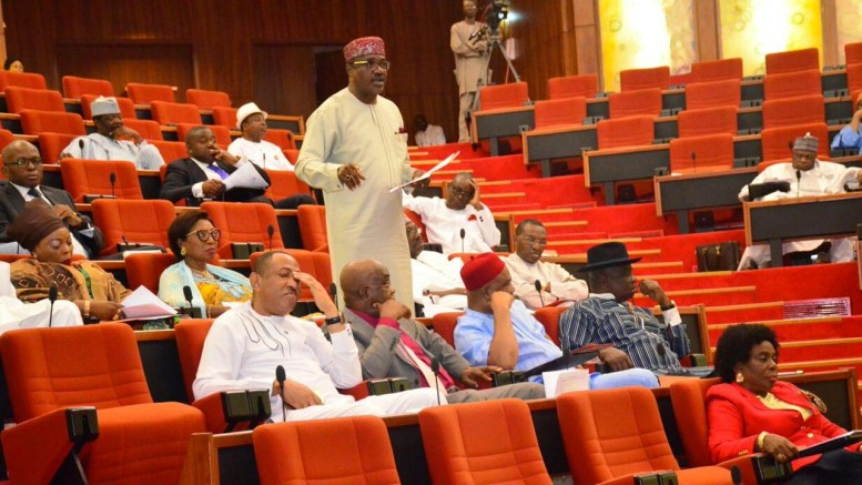 The Senate during a plenary