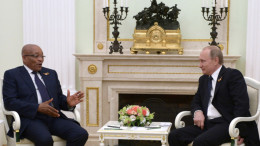 President Jacob Zuma, in Russia on a medical holiday in August, met President Vladimir