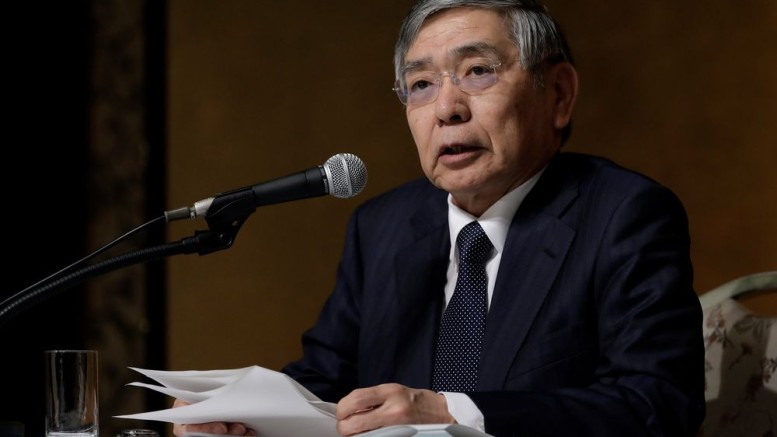 Haruhiko Kuroda, governor of the Bank of Japan. Photographer: Kiyoshi Ota