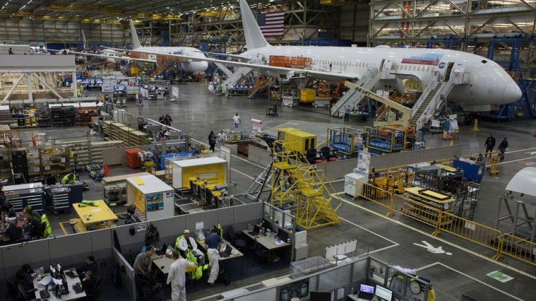 The Boeing production facility in Everett, Washington. Photographer: David Ryder