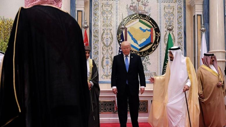 Donald Trump and Salman bin Abdulaziz al-Saud in Riyadh on May 21, 2017. Photographer: Mandel Ngan