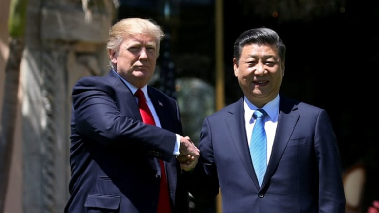 Donald Trump and  President Xi Jinping