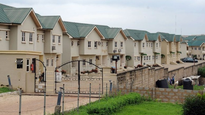 Detached three-bedroom apartments on a housing estate in southwest Nigeria.  Photographer: Pious Utomi Ekpei/