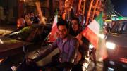 Iran people celebrate