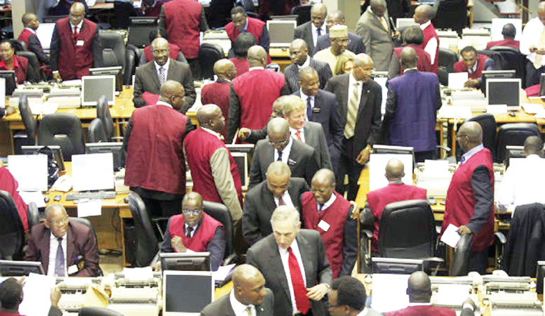 Trading floor stock exchange market nse