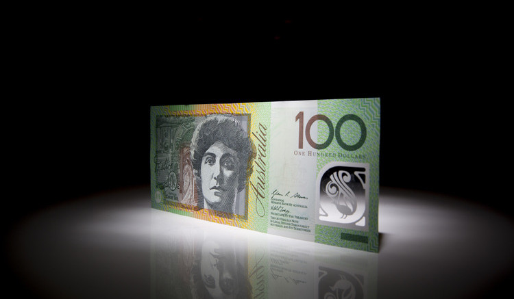 An Australian one hundred dollar