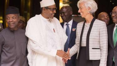 Osinbajo Buhari and Lagarde