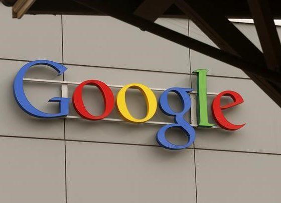 A logo is pictured at Google's European Engineering Center in Zurich