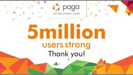 Paga hits 5 million users