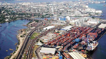 Aerial View of Port