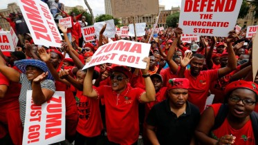 South Africans protest