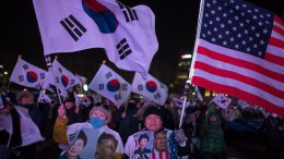 south Korea trump rally
