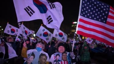 south Korea trump rally