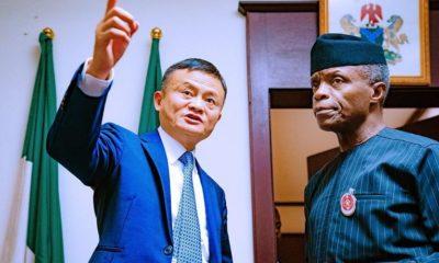 Alibaba chairman Jack Ma and Vice President Yemi Osinbajo