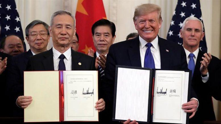 US and China signs