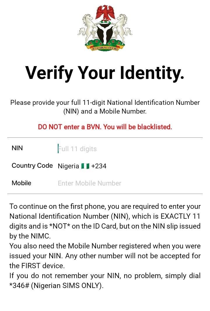 NIMC form