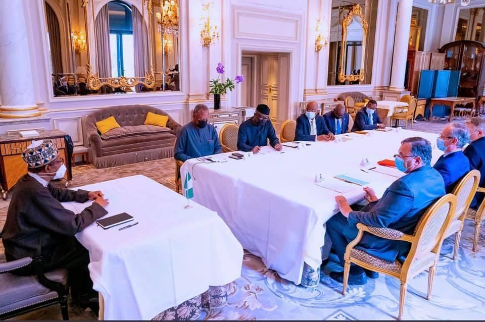 Buhari and France Leaders - Investorsking