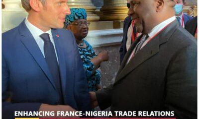 Abdul Samad Rabiu and Emmanuel Macron - Investors King